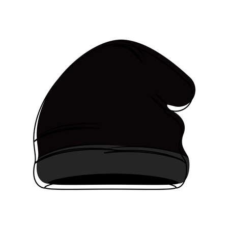 Icône de chapeau d'hiver isolé. Vêtements d'hiver - conception d'illustration vectorielle
