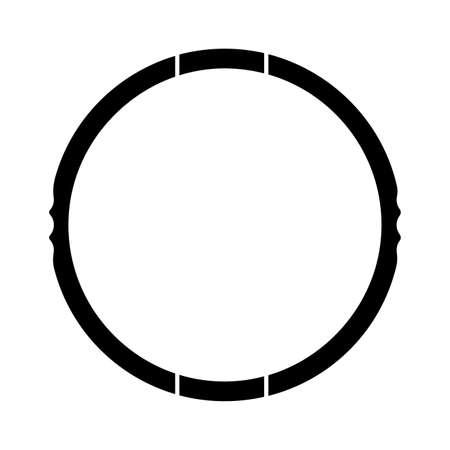 hoop icon. Children toy - Vector illustration design
