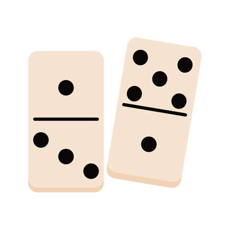 Isolated domino icon. Children toy - Vector illustration design Vector Illustration