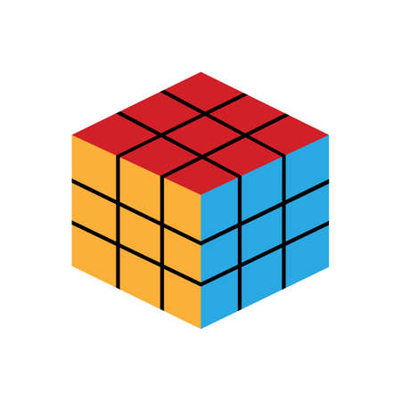 Isolated rubik cube icon. Children toy - Vector illustration design