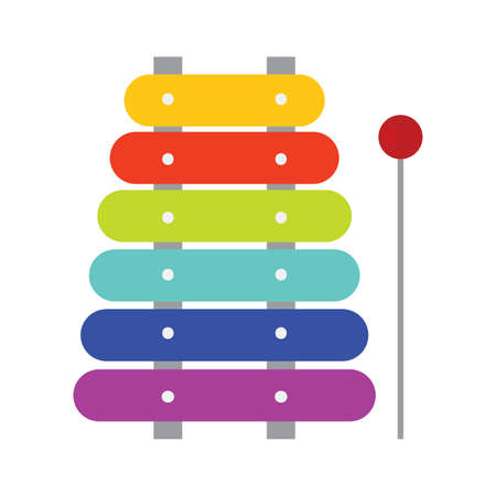 Isolated xylophone icon. Children toy - Vector illustration design