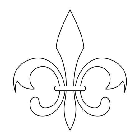 Isolated fleur de lis. Medieval decoration. Mardi gras - VEctor Ilustracja