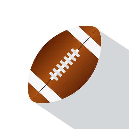 Isolated american football ball image - Vector illustration