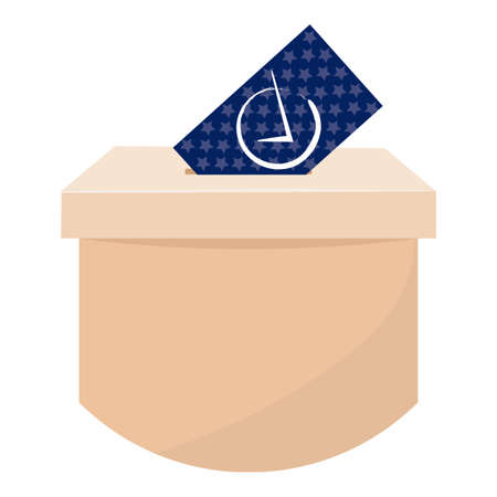 Isolated ballot box. Election day - Vector illustration