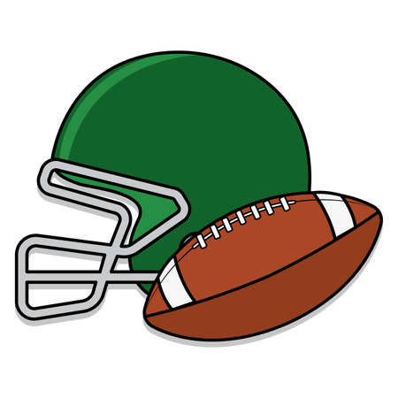 Isolated american football ball and helmet icon - Vector illustration