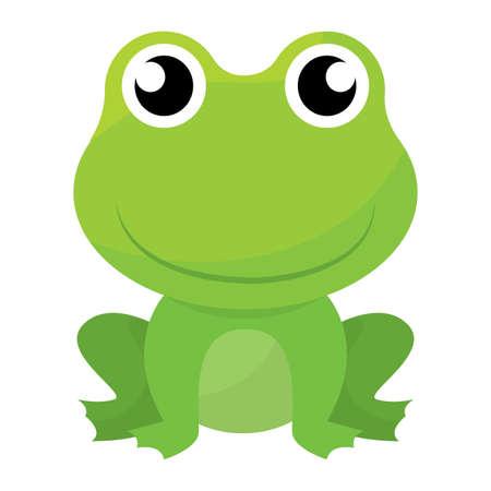 Isolated cute frog cartoon - Vector illustration design