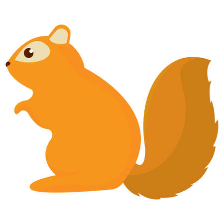 Isolated cute chipmunk. Brown squirrel - Vector illustration Ilustración de vector