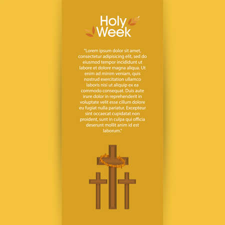 Holy week poster with a crosses - Vector