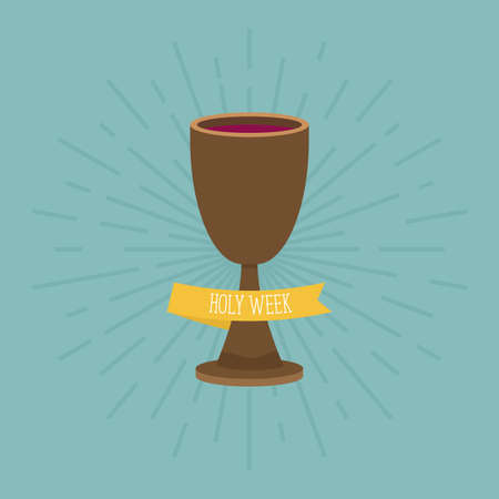 Holy week card with a chalice - Vector Stock Illustratie