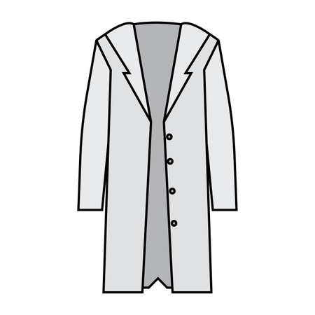 Isolated medical gown image. Medical uniform - Vector