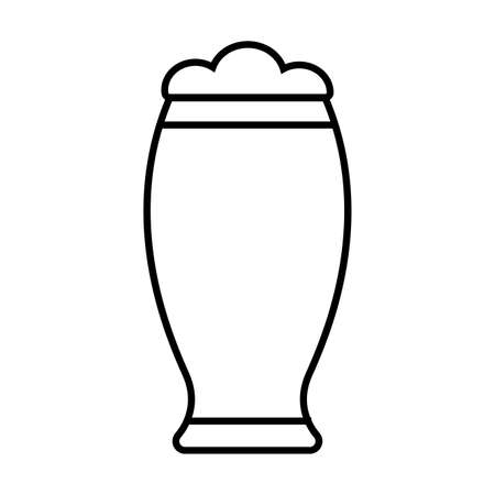Isolated beer glass icon. Alcoholic beverage - Vector
