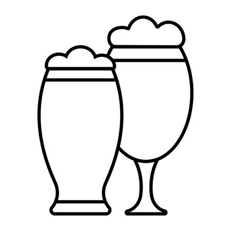 Isolated beer glass icon. Alcoholic beverage - Vector Vettoriali