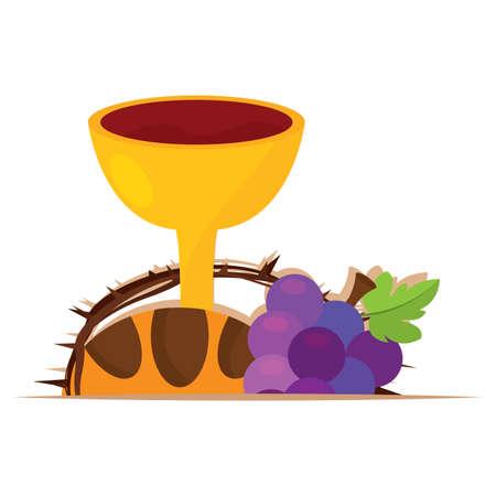 Holy week illustration. Holy eucharist - Vector illustration