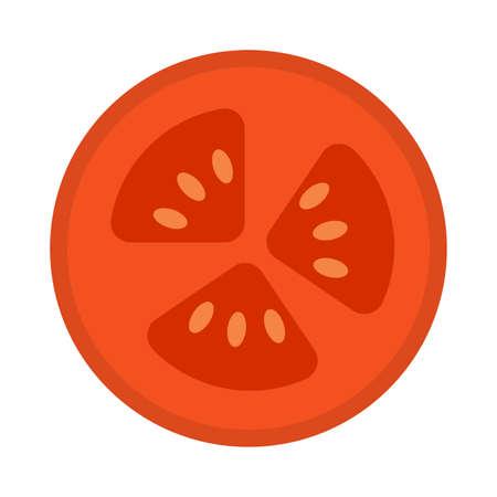 Isolated tomato cut icon. Healthy food - Vector illustration Vector Illustratie