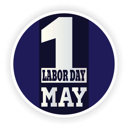 Labor day poster with a text - Vector illustration