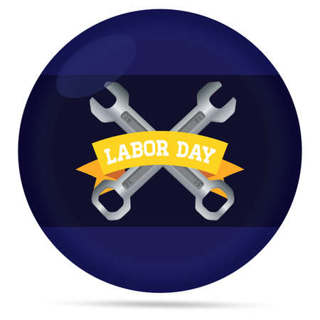 Labor day poster with wrenchs - Vector illustration Vectores