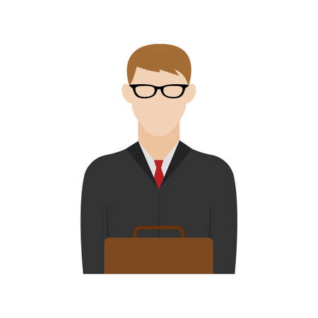 Isolated attorney icon. Professions or occupations icons - Vector
