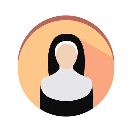Isolated nun icon. Professions or occupations icons - Vector