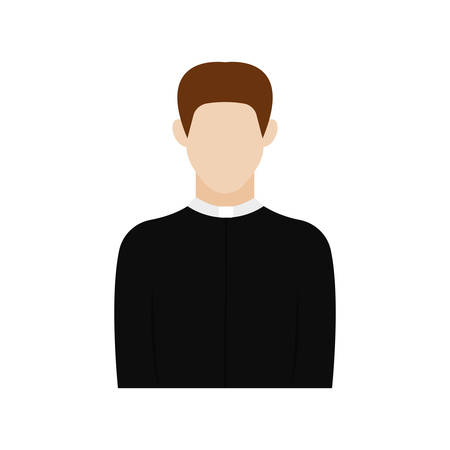 Isolated priest icon. Professions or occupations icons - Vector