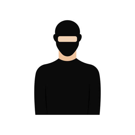 Isolated thief icon. Professions or occupations icons - Vector