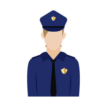 Isolated policeman icon . Professions or occupations icons - Vector