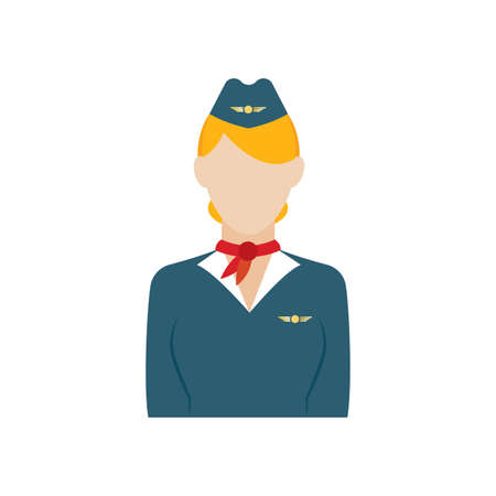 Isolated stewardess icon. Professions or occupations icons - Vector Illustration
