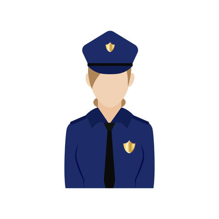 Isolated policewoman icon . Professions or occupations icons - Vector