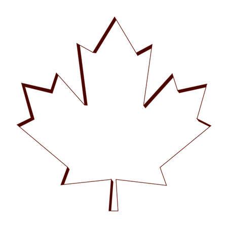 Maple leaf icon. Canada symbol - Vector illustration