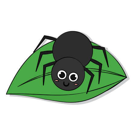 Isolated happy spider cartoon. Cute insect - Vector illustration