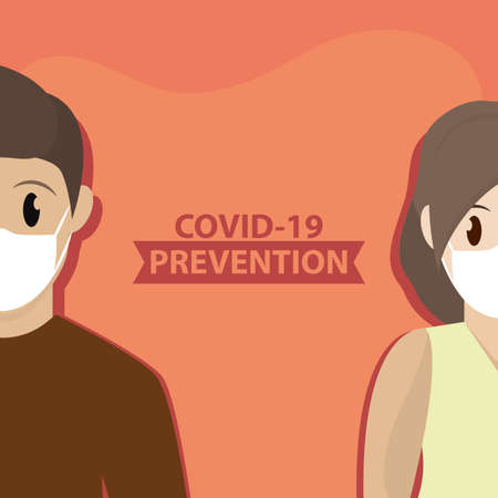 Social distancing poster. Covid-19 protection and prevention - Vector Ilustração