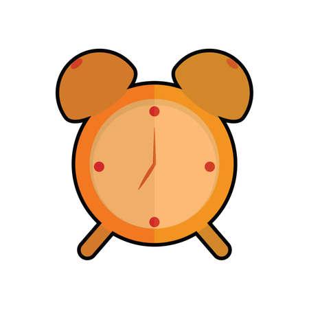Isolated orange alarm clock icon - Vector illustration