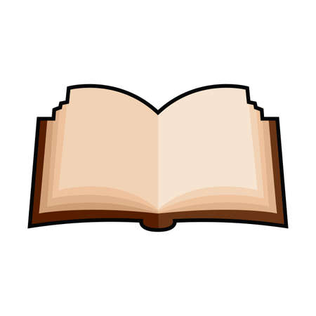 Isolated open book icon. School supplies icon - Vector