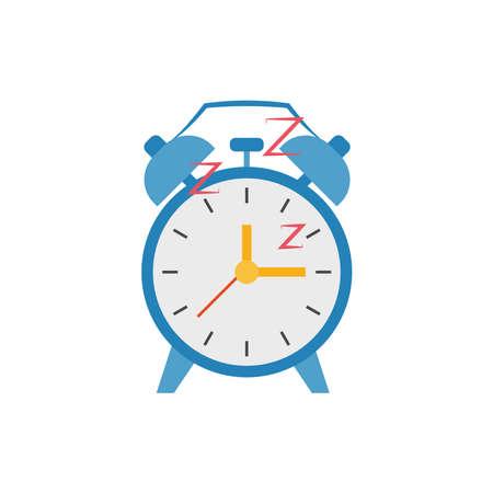 Isolated retro vintage alarm clock icon - Vector illustratin