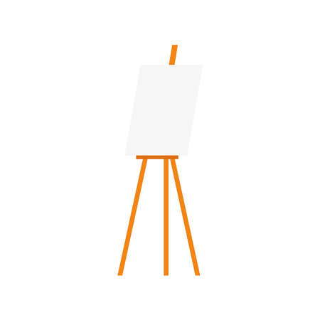 Isolated easel with blank canvas icon - Vector