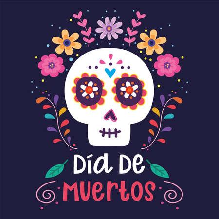 Dia de los muertos poster. Day of the Dead - Vector Vetores
