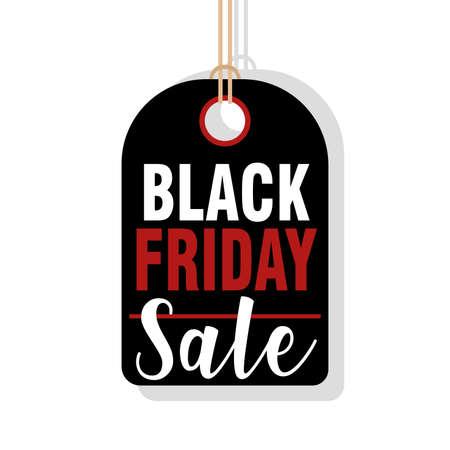 Black friday label. Discount offer sale - Vector