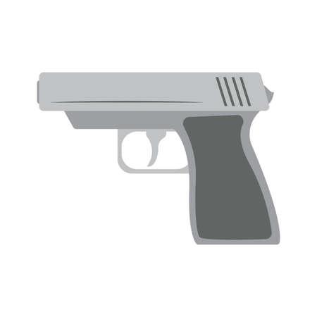 Isolated gun machine element war icon