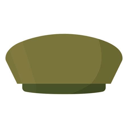 Isolated soldier hat gun war icon