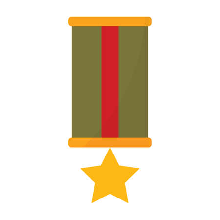 Isolated medal soldier gun war icon