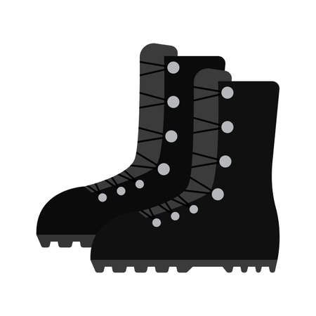 Isolated boots soldier gun war icon