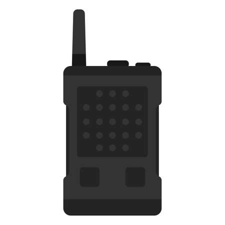 Isolated radio comunicator gun war icon Иллюстрация