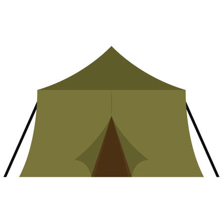 Isolated tent soldier gun war icon Иллюстрация