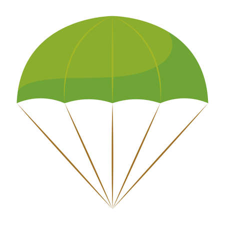 Isolated parachute soldier gun war icon Иллюстрация