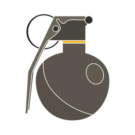 Isolated grey grande gun war icon Иллюстрация