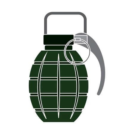 Isolated green grande gun war icon