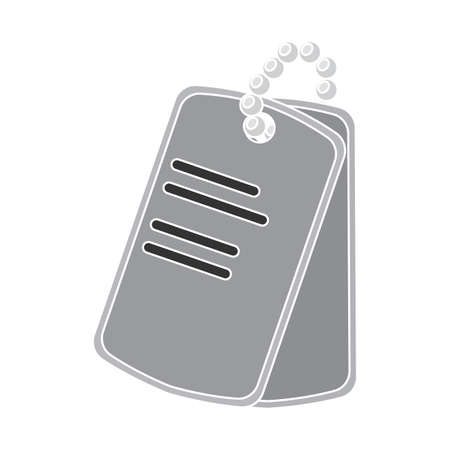 Isolated medal name gun war icon Иллюстрация