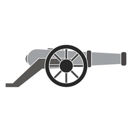 Isolated canyon machine gun war icon