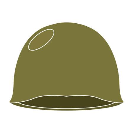 Isolated green helmet gun war icon Иллюстрация