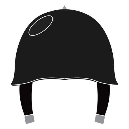 Isolated black helmet gun war icon