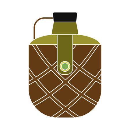 Isolated bottle water gun war icon